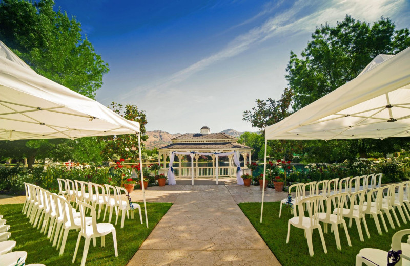 Wedding ceremony at Wonder Valley Ranch Resort.
