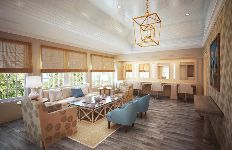 Spa lounge at Ocean Edge Resort & Club on Cape Cod.