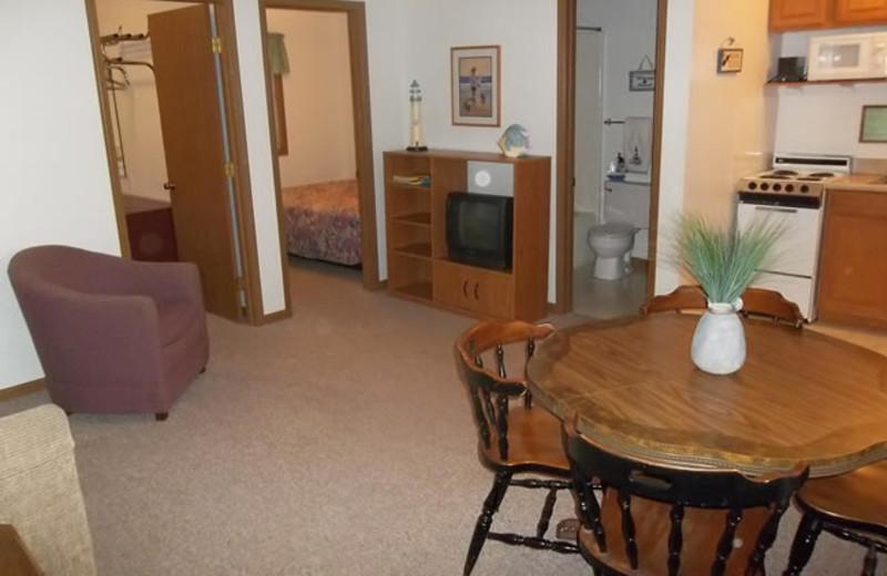 Unit interior at Golden Horseshoe Resort.