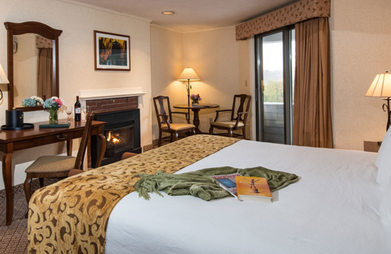 Guest room at The Meadowmere Resort.