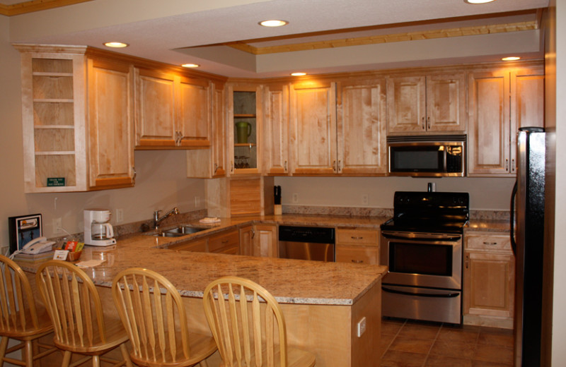 Vacation rental kitchen at Sundance Ridge.