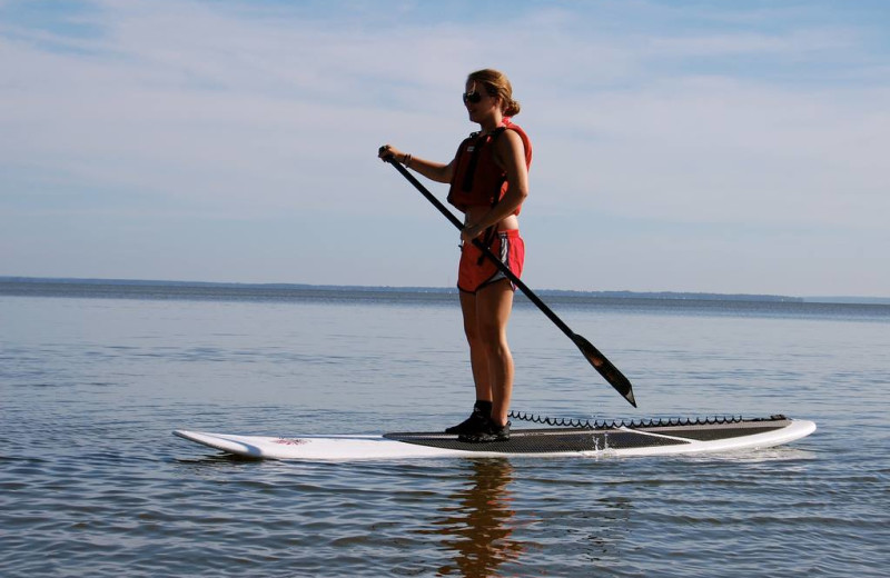 Paddle boarding at The Inn at Ocean's Edge.