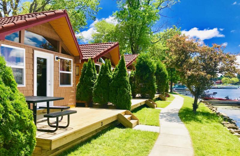Cabin exterior at Edinboro Lake Resort.