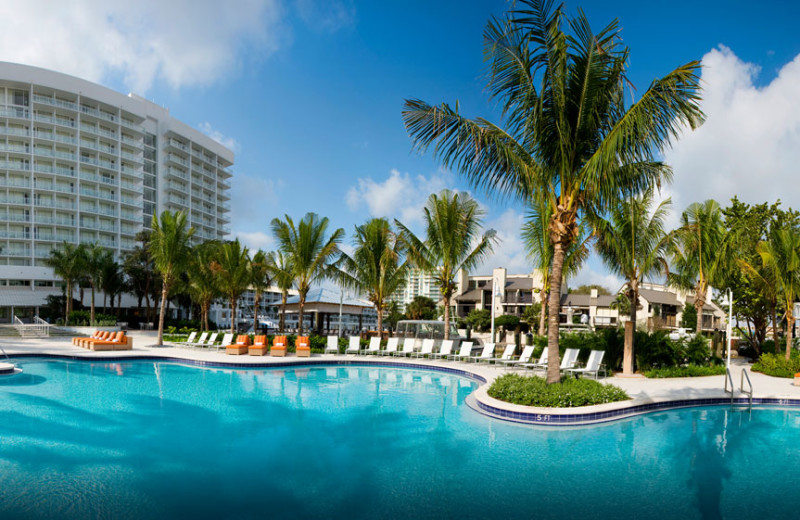 Outdoor pool at Hilton Fort Lauderdale Marina.