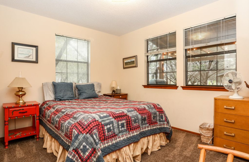 Bedroom at Farr Side Lake Vacation Home.