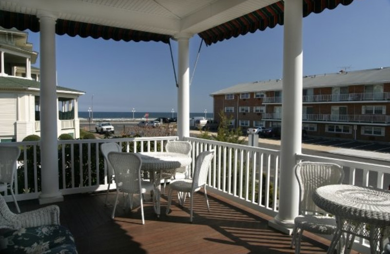 Deck view at Atlantic View Inn.