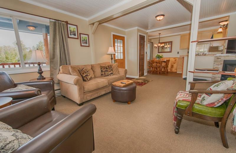Cottage living room at Placid Bay Inn.