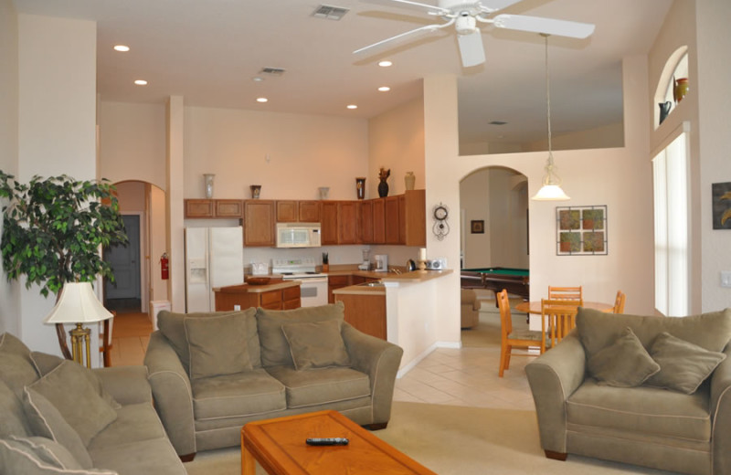 Rental interior at Sunkiss Villas.