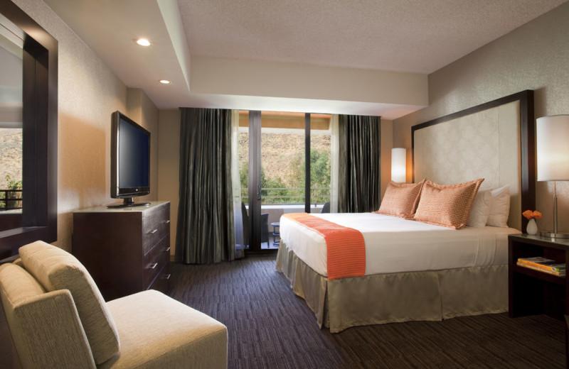 Guest room at Hyatt Regency Suites - Palm Springs.