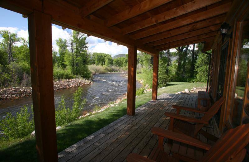 Porch at Vee Bar Guest Ranch.