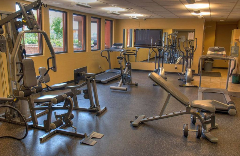 Fitness room at Playa Del Sol Resort.