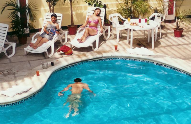 Pool at Hotel Pension Bonifaz.