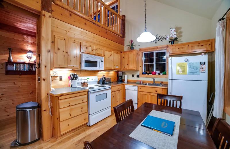 Rental kitchen at Mt. Baker Lodging.