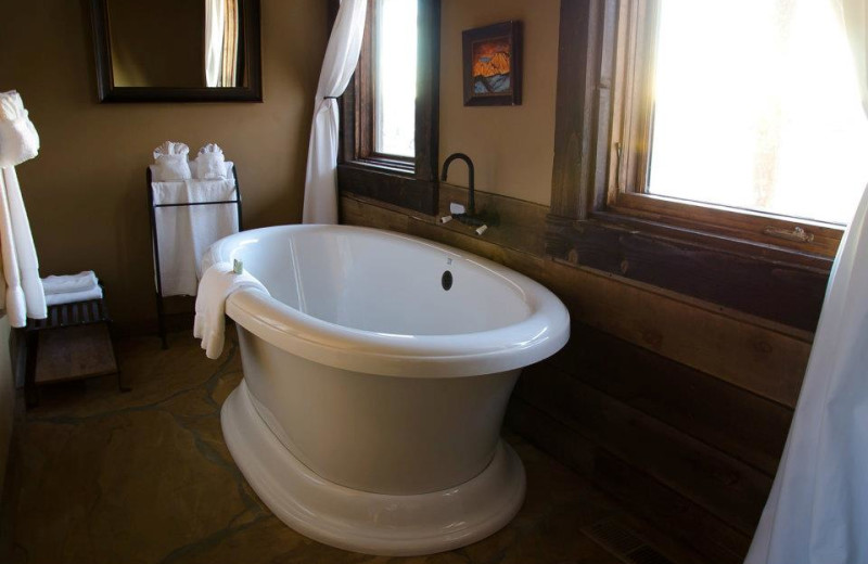 Bath tub at Zion Mountain Ranch.