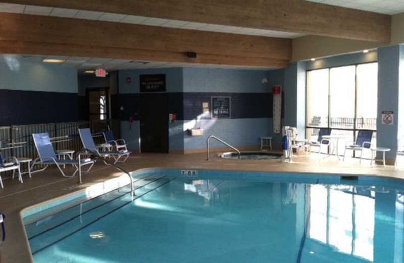 Indoor pool at Four Points by Sheraton Saginaw.
