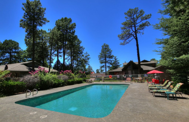 Outdoor pool at Majestic Mountain Inn.
