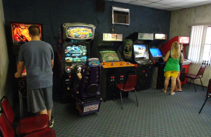 Video arcade at Pollace's Family Vacation Resort.
