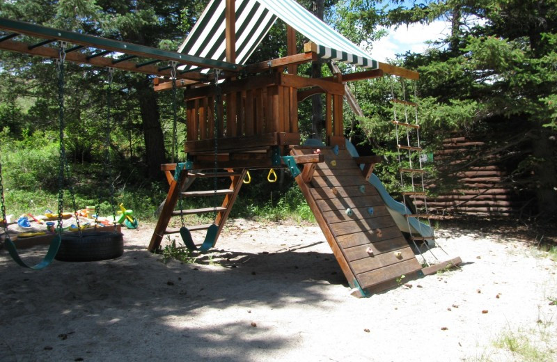 Kid's playground at Elk Mountain Ranch.