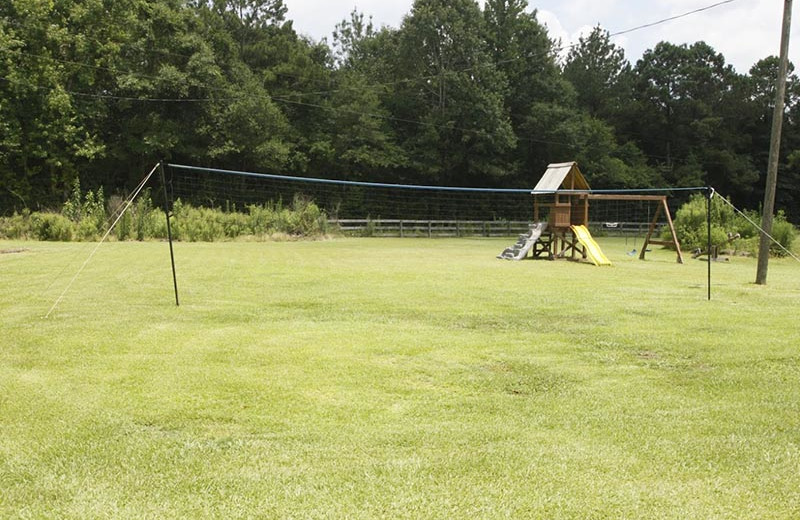 Volleyball at Berry Creek Cabins.