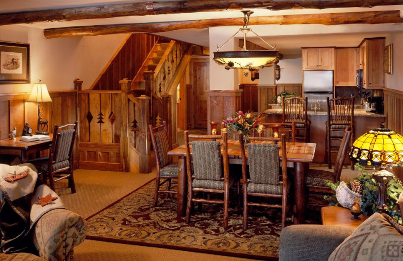 Guest suite at The Whiteface Lodge.