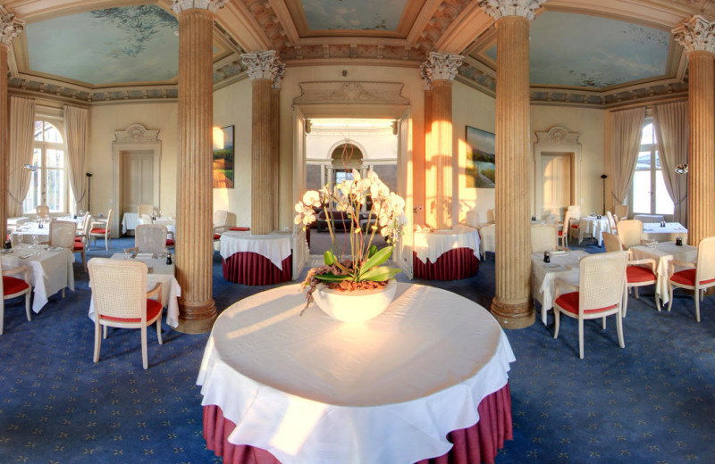 Dining at Grand Hotel des Bains.