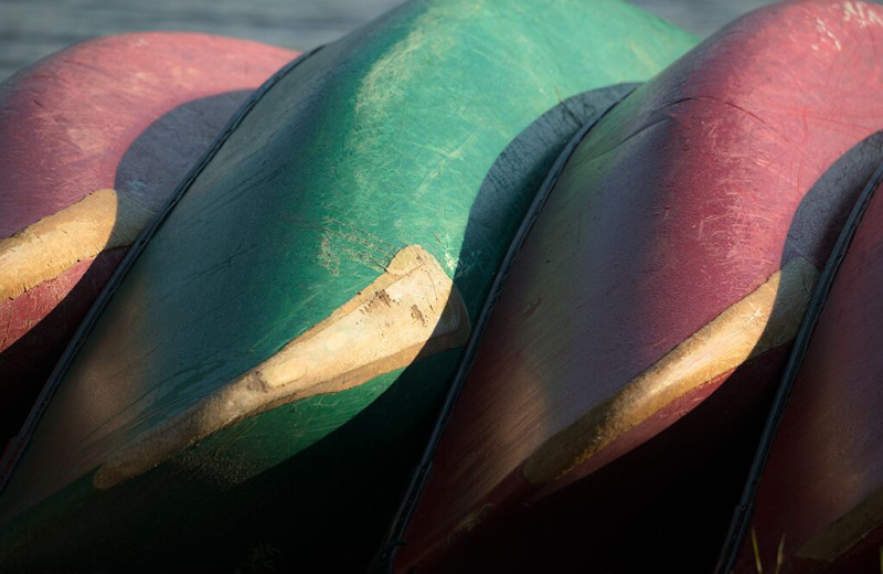Canoes at The Lodge at Pine Cove.