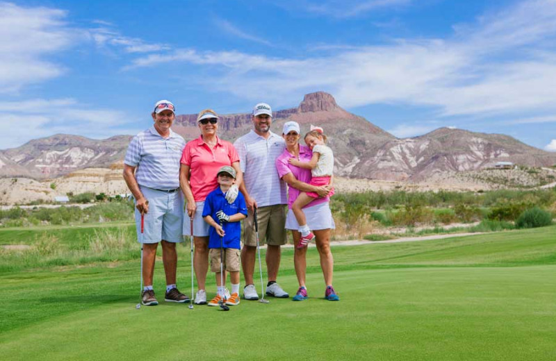 Family golf at Lajitas Golf Resort.