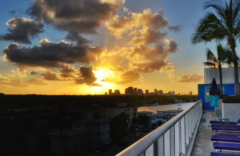 Sunset at Walker Vacation Rentals.