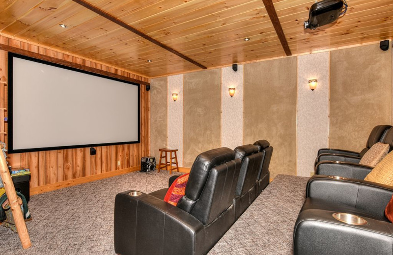 Rental theater at Smoky Mountain Retreat Realty.