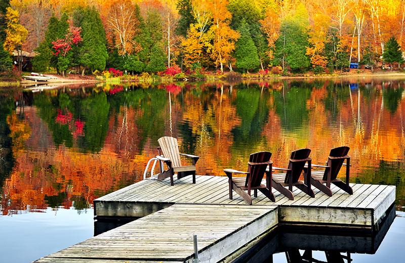 Dock view at Fiddler Lake Resort.