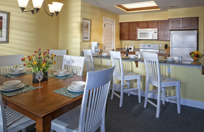 Guest kitchen at Bluewater Resort and Marina.