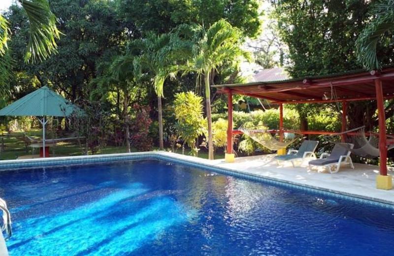 Outdoor pool at Hotel Rancho Suizo Lodge.