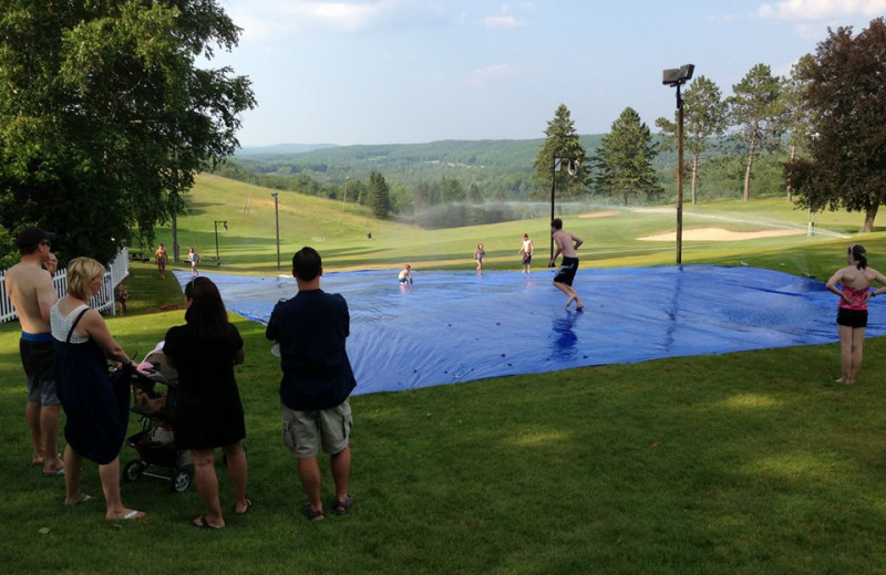 Slip and slide at Otsego Club and Resort.