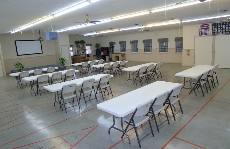 Conference room at Hill Country RV Resort & Cottage Rentals.