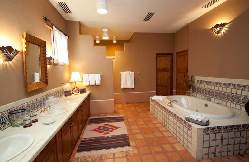 Guest bathroom at Cibolo Creek Ranch.
