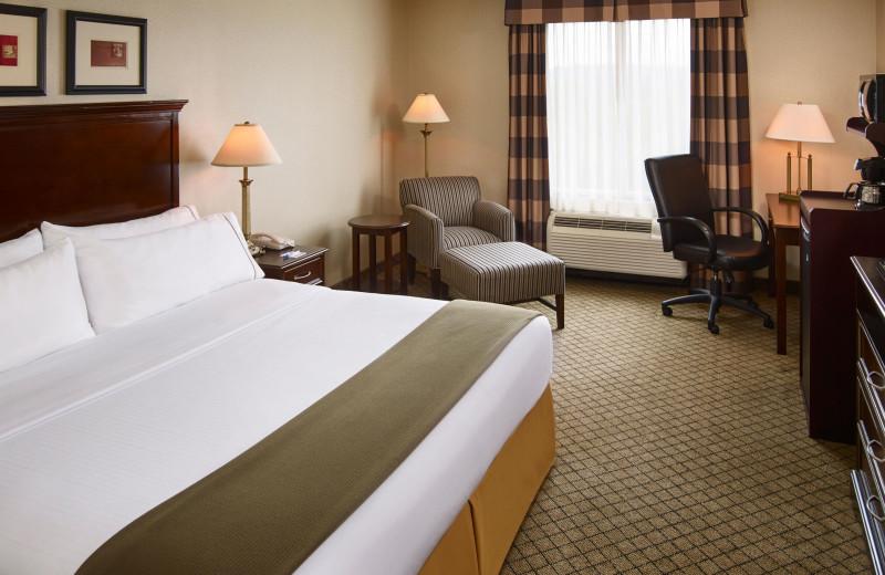 Guest room at Holiday Inn Huntsville.