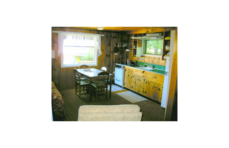 Cabin interior at Eagle Wing Resort.