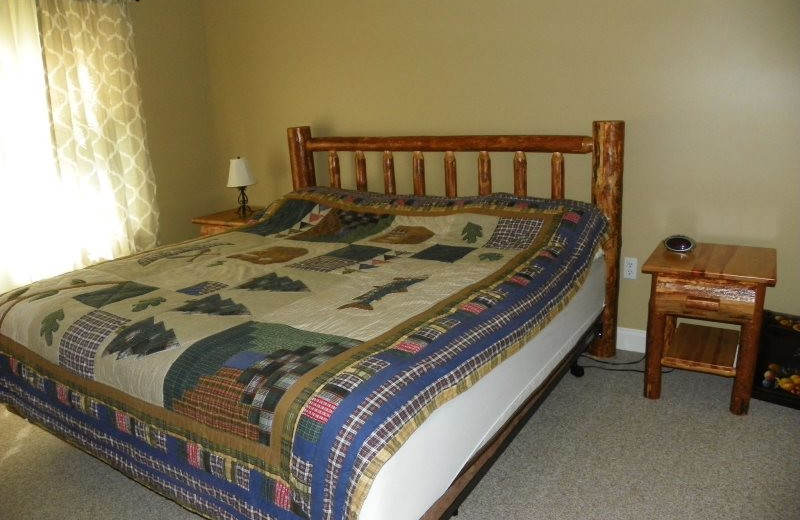 Rental bedroom at All Mountain Rentals.