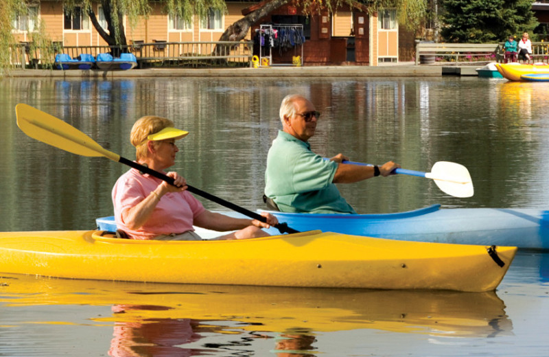 Kayaking at Rocking Horse Ranch Resort.
