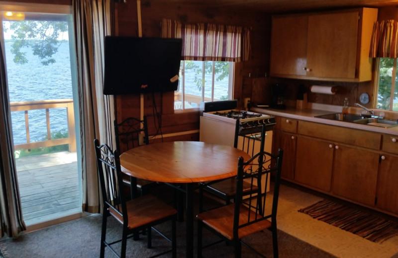 Cabin kitchen at Park Point Resort.
