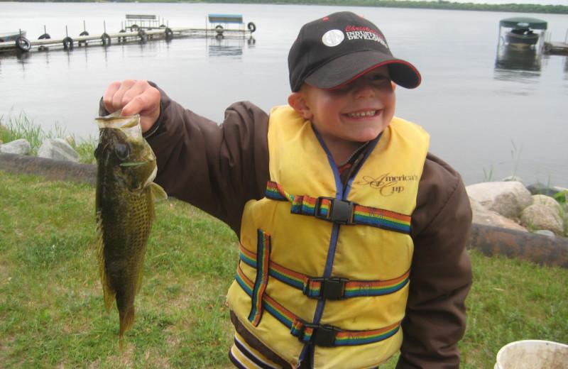 Fishing at Finn'n Feather Resort.