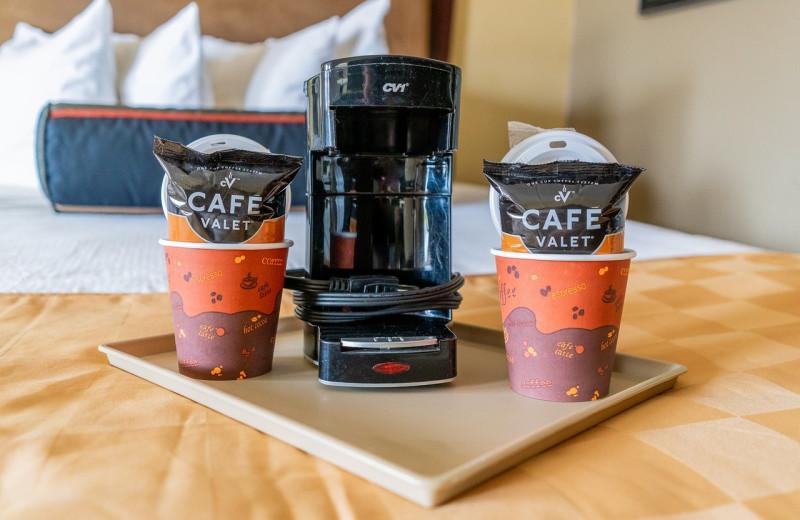 Coffee at Hotchkiss Inn.