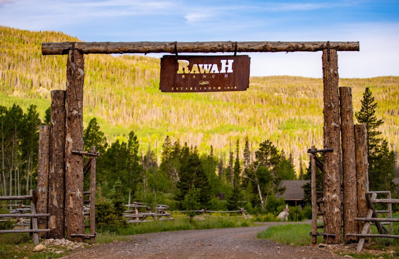 Entrance at Rawah Guest Ranch.