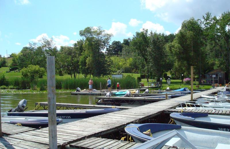 Dock at Highland View Resort.