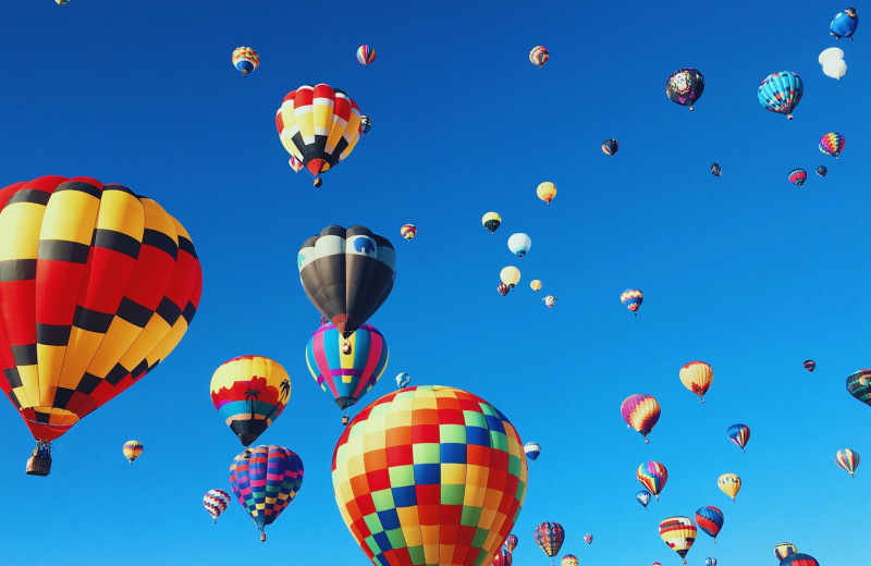 Balloon festival at The Depe Dene Resort.