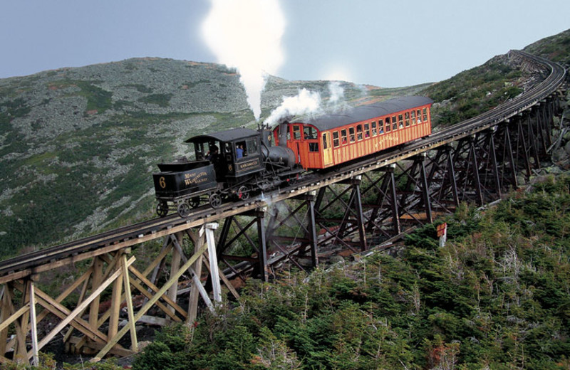 Mount Washington Cog Railway near Royalty Inn.