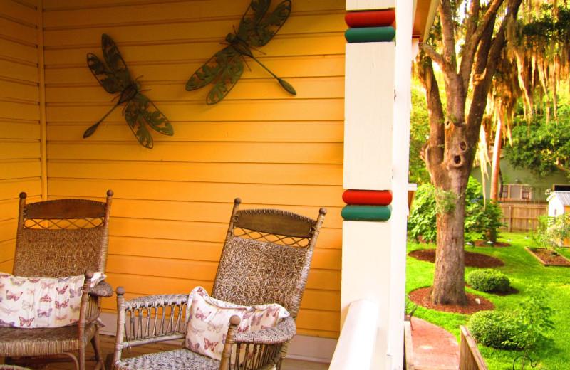 Relaxing on the porch at Laurel Oak Inn.