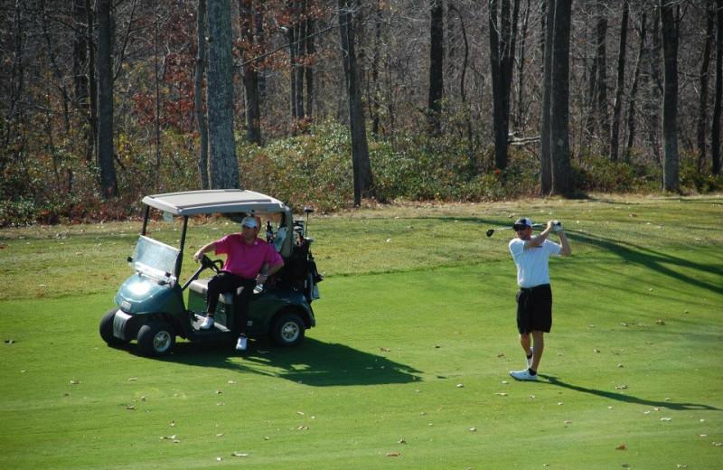 Playing Golf at Wisp Resort