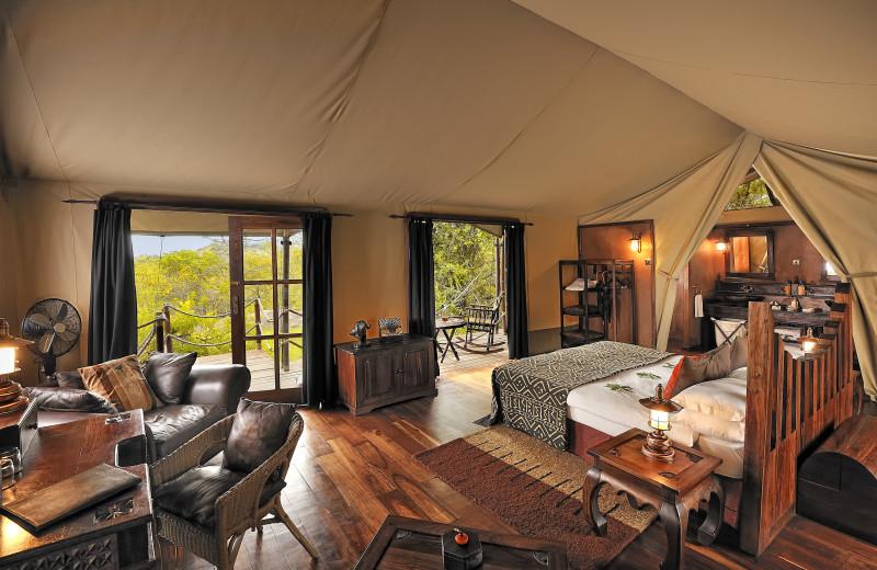 Guest room at Serengeti Migration Camp.