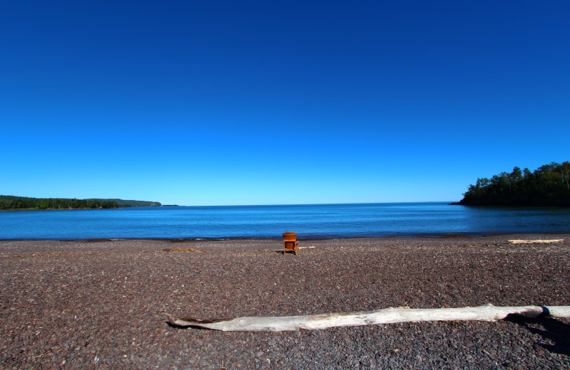 The beach at Superior Shores Resort.